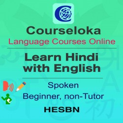 CourseLoka, Learn Hindi with English, Spoken, Beginner, Non-Tutor