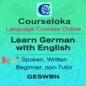 CourseLoka, Learn German with English, Spoken, Written, Beginner, non-Tutor