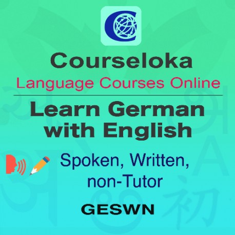 CourseLoka, Learn German with English, Spoken, Written, Full, non-Tutor