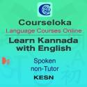 CourseLoka, Learn Kannada with English, Spoken, Non-Tutor