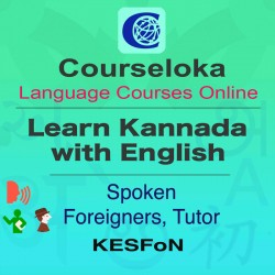 CourseLoka, Learn Kannada with English, Spoken, Foreigner, Tutor